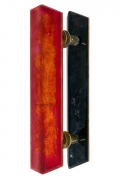 Paolo De Poli Enameled Copper Door Pulls with Brass Hardware. Single