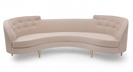 Large Midcentury Style Sofa in the Manner of Dunbar by Lost City Arts, Front View
