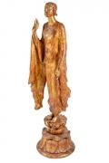 """Chinoise"" by Gertrude Vanderbilt Whitney Gilded Plaster, 3/4 View"