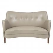 "Scandinavian Mid-Century Nanna Ditzel ""Allé Sofa"" Reupholstered in Leather"