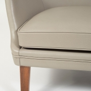 Pair of Arne Vodder Leather Lounge Chairs by Ivan Schlechter, Close Up