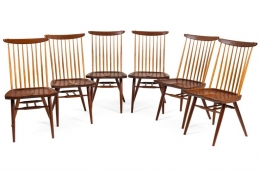 "George Nakashima Set of Six ""New Chairs"""