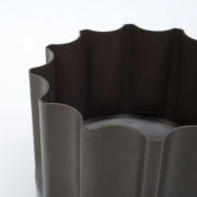"Enzo Mari Dark Brown Moulded Plastic ""Bambu"" Vessel for Danese"