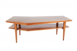 Walnut Coffee Table in the style of Bertha Schaefer for Singer & Sons