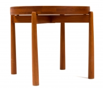 Jens Quistgaard Style Teak Tray Table, Side View 2