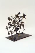 Harry Bertoia Welded Steel and Brass Sculpture. 3
