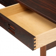 Nanna Ditzel & Jorgen Ditzel Rosewood Four Drawer Desk, Close Up of Drawer