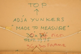 """Adja Yunkers Acrylic on Board Painting """"Made to Measure"""""""