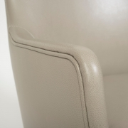 Pair of Arne Vodder Leather Lounge Chairs by Ivan Schlechter, Close Up of Arm