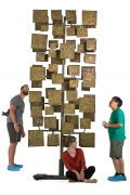 Harry Bertoia Sculpture Screen Commissioned by Florence Knoll, Scale Shot