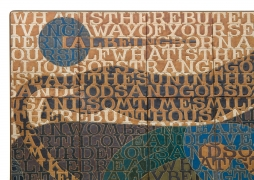 Bo Kristiansen Stoneware Tile Wall Relief