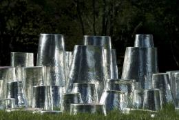 """Magic Wood"" Ceramic Sculptures by Fausto Salvi, Landscape 4"
