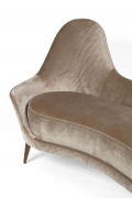 Camelback Settee in the Manner of Cesare Lacca in Mohair, Cropped Side