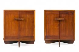 George Nakashima Walnut & Maple Burl Kornblut Nightstands or Cabinets