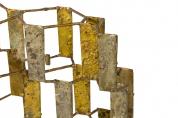 Harry Bertoia Brass Melt Coated Multi Plane Panel Sculpture