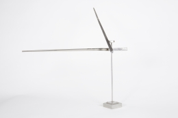 "George Rickey ""One Horizontal One Diagonal Line"" Sculpture, Angle 3"