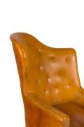 Steen Eiler Rasmussen Asymmetrical Leather Armchair for AJ Iverson, Close Up 1