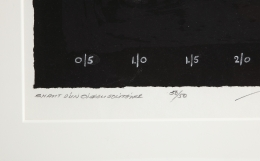 """Adja Yunkers Lithograph """"Shant D'un Oiseau Solitaire"""" 50/50, Close Up 3"""