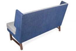 Wing Settee in the Manner of Dunbar by Lost City Arts, Back View