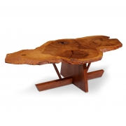George and Mira Nakashima English Oak, Walnut and Hickory Minguren Coffee Table