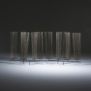 Harry Bertoia Early Wire Form Sculpture, Black background