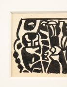 """Nell Blaine Black & White Ink Drawing on Paper """"Shooting Gallery"""""""