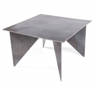 Artist Made Architectural Steel Table by Robert Koch, 3/4 Top View 2
