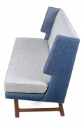 Wing Settee in the Manner of Dunbar by Lost City Arts, Side View