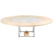 Poul Kjaerholm PK 54 Marble Dining Table with Maple Extensions for Fritz Hansen