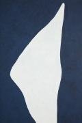 "Adja Yunkers 1900-1983 ""White on Smoke Blue"" Acrylic on Canvas, Close Up 1"