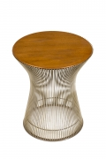 Warren Platner Walnut and Chrome Side Table for Knoll