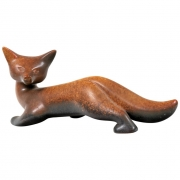 Gunnar Nylund Signed Brown Stoneware Fox for Rorstrand