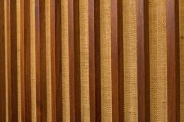 George Nakashima Free Edge Black Walnut Hanging Wall Cabinet, USA