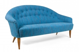 Large Midcentury Style Sofa in the Manner of Dunbar by Lost City Arts