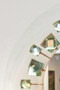 Ghiro Studios Backlit Chisel Cut Glass Mirror, Detail Shot