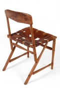 "Wharton Esherick Ash, Hickory & Leather ""Hammer Handle"" Chair"