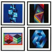 Victor Vasarely Gestalt Series Prints by Editions du Griffon