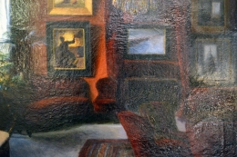 Salon Oil Painting by Sigurd Wandel