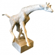 Original Plaster Model of a Giraffe by Hugo Liisberg