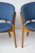 Nanna Ditzel ND83 Lounge Chairs Upholstered in Blue Fabric, 4