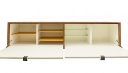 Wall-Mounted Drop Front Cabinet by Knoll