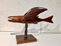 """Pitcairn Island """"Mutiny on the Bounty"""" Carved Flying Fish"""
