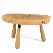 "Solid Oak ""Troll"" Occasional Table by Lop Furniture, Side View"