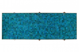Dunbar Murano Glass Tile Top Coffee Table by Edward Wormley, Birds Eye View