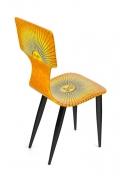 "Piero Fornasetti Prototype Miniature ""Sole"" Chair & Table"