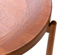 Jens Quistgaard Style Teak Tray Table, Close up View of Tray