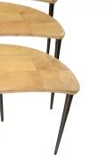 Aldo Tura Goatskin Crescent Nesting Tables, Focus on Curves