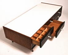 George Nelson Model 5215 Rosewood Jewelry Chest with Miniature Legs