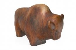 Ruscha Keramik Brown Glazed Bull
