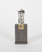 Berrocal Micro David Sculpture Pendant on Rare Original Stand